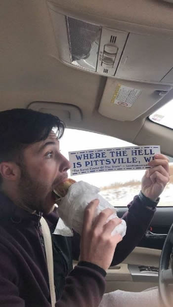 eating a sub