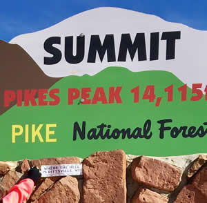 Pikes Peak sign