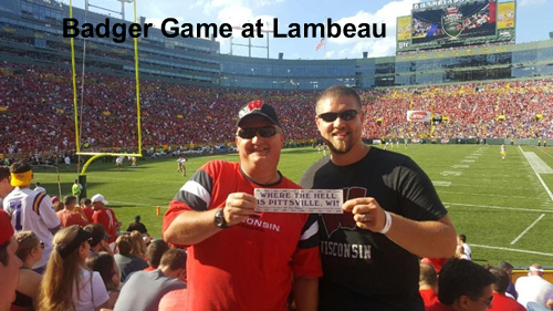 Badger game at Lambeau